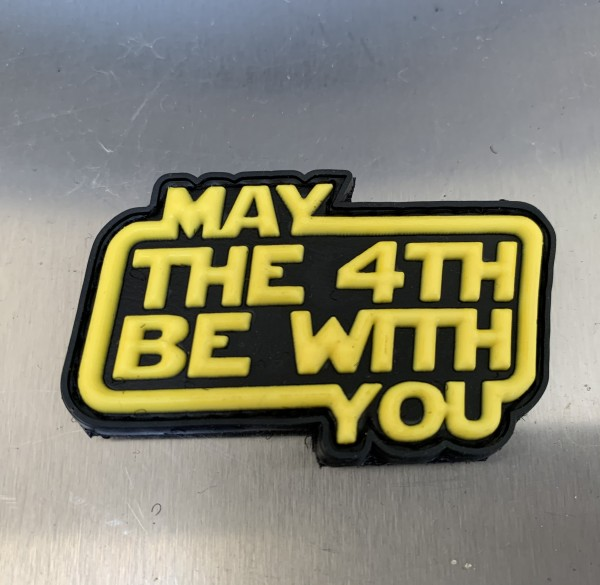 """3D Rubberpatch """"MAY THE 4TH BE WITH YOU"""""""