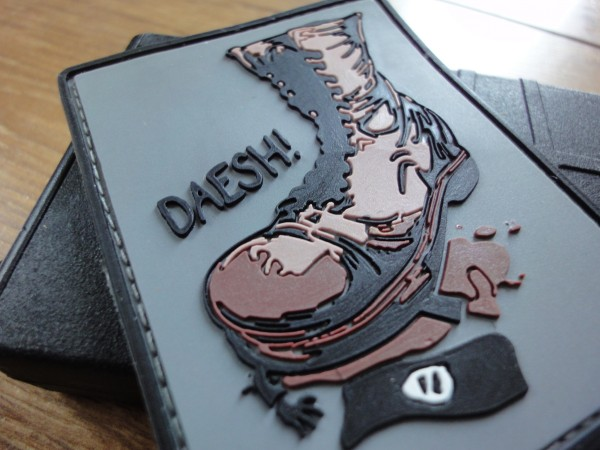 "3D Rubber MORALE PATCH: ""DAESH"""