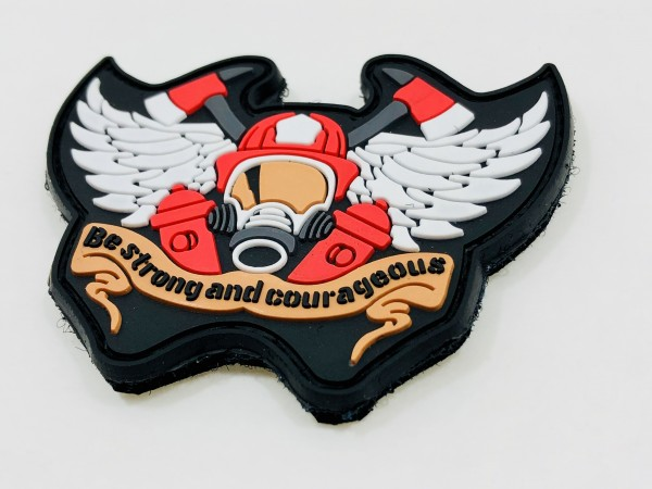 "3D Rubberpatch: ""Be strong and courageous"""
