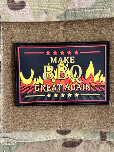 "3D Rubberpatch ""Make BBQ great again"" Flames-version"