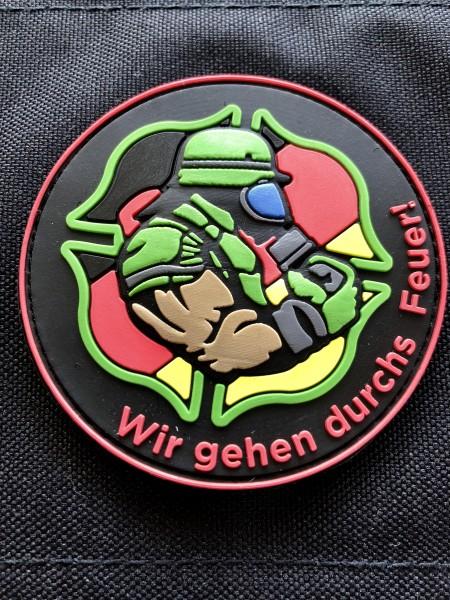 """3D RUbberpatch """"Wir gehen durch's Feuer!"""""""