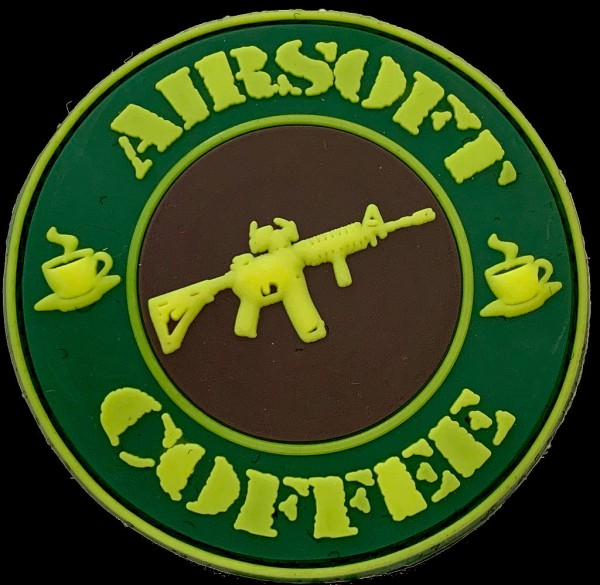 "3D Rubberpatch ""AIRSOFT & COFFEE"""