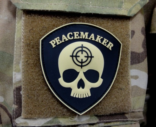 "3D Rubber Patch:""PEACEMAKER"""