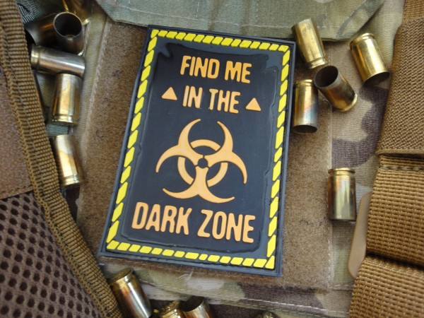 "3D-Rubberpatch: ""FIND ME IN THE DARK ZONE"