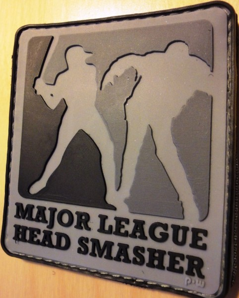 "3D Rubberpatch: ""Major League Headsmasher"" dark"