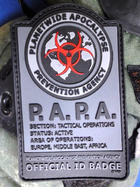 "3D Rubberpatch: ""P.A.P.A.""night camo"