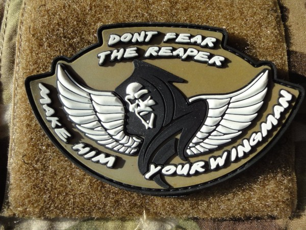"3D Rubber MORALE PATCH: ""Don't fear the Reaper - white wings"""