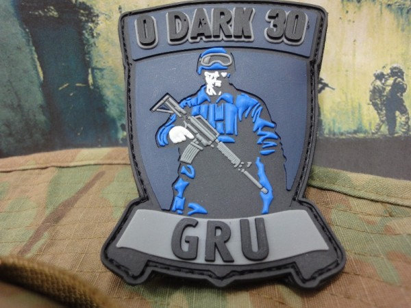 "3DRubber Patch:""0 Dark 30""GRU"""