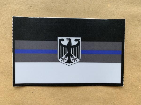 """Aufkleber/Sticker """"BLUE LINE DEUTSCHLAND"""""""