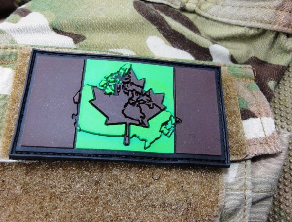 "3DRubber Patch:""CANADA"" camo"