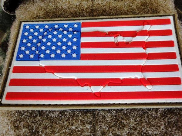 "3DRubber Patch:""USA"" left side"