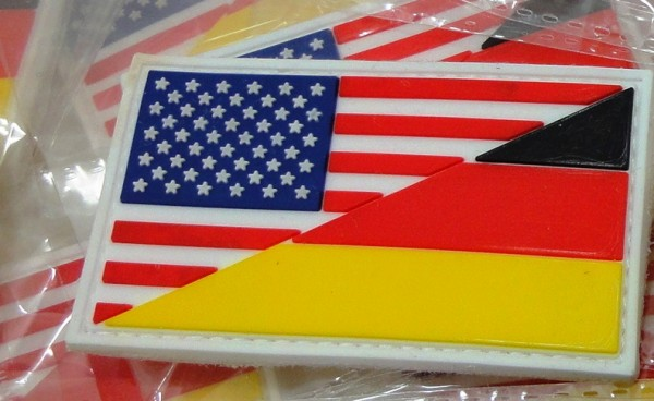 "3D Rubber PATCH: ""US/GER"""
