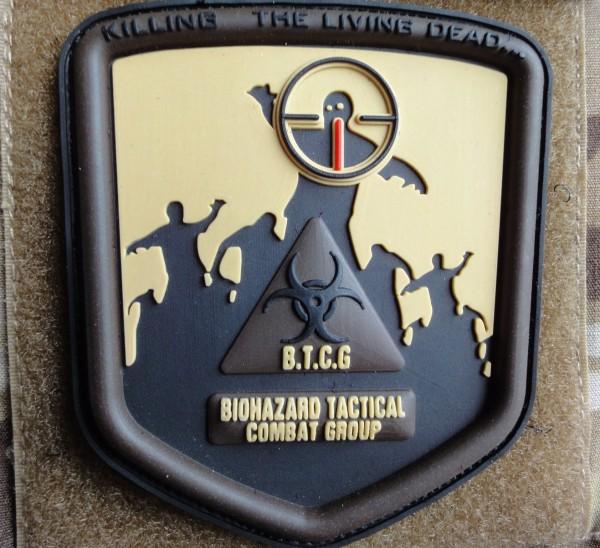 """3D Rubberpatch: """"B.T.C.G"""" desert"""