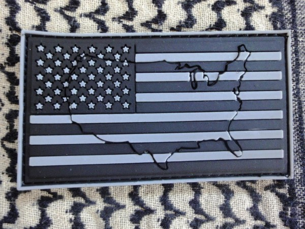 "3DRubber Patch: ""USA"" left arm SUBDUED"
