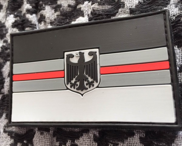 "3D Rubber MORALE PATCH: ""RED LINE DEUTSCHLAND"""