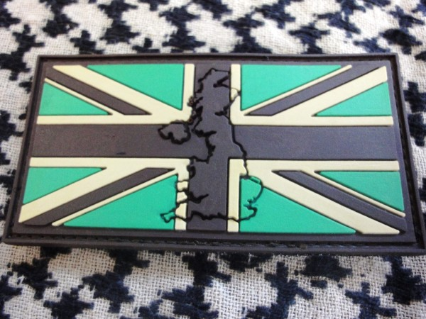 "3D Rubber Patch:""UNITED KINGDOM"" DESERT RATS"