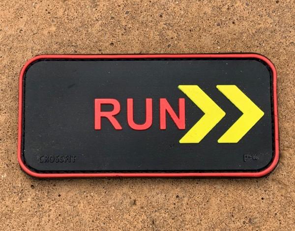 """3D Rubberpatch: """"RUN"""""""