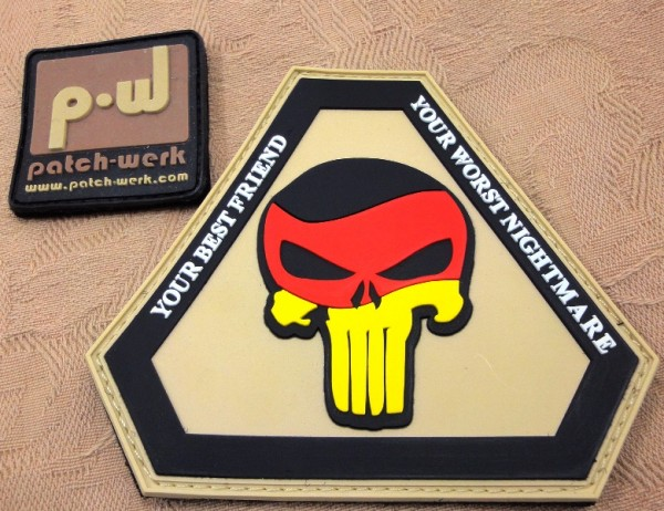 "3D Rubber Patch:""Punisher Germany"""