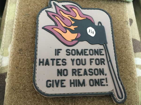 """3D Rubber Morale Patch: """"If someone hates you"""""""