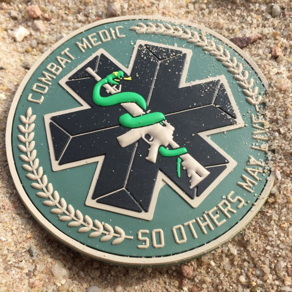 "3D Rubber MORALE PATCH: ""COMBAT MEDIC"""