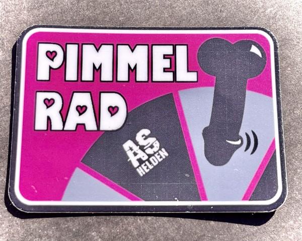 """Aufkleber/Sticker """"PIMMELRAD"""" pink"""