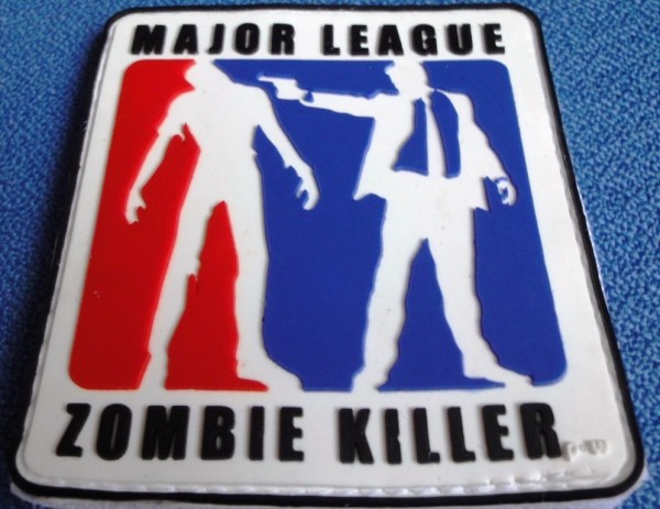 "3D Rubberpatch: ""Major League ZOMBIE KILLER"" r,w,b"
