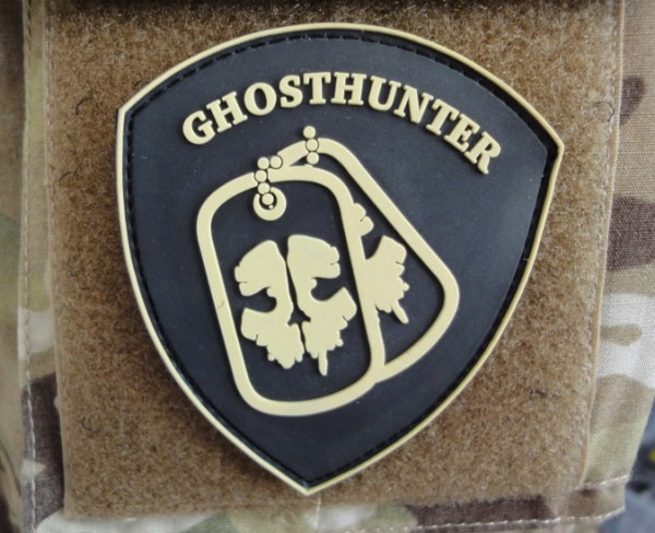 "3DRubber Patch:"" GHOSTHUNTER"" tan"