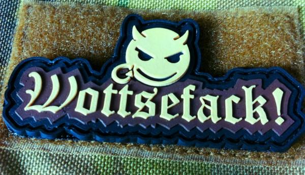 "3D Rubber Patch:""Wottsefack!"" desert"