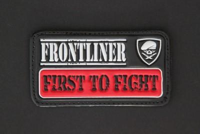 """"""" FIRST TO FIGHT"""", PVC (schwarz rot weiß), aus unserer berühmten """"FRONTLINER-Collection"""""""