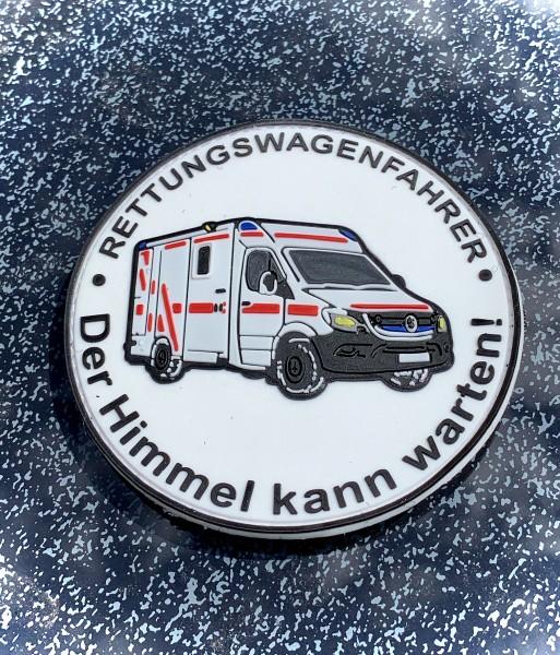 "3D Morale Patch: RTW Fahrer ""Der Himmel kann warten!"" (Heaven can wait!)"