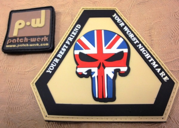 "3D Rubber Patch:""Punisher UK"""
