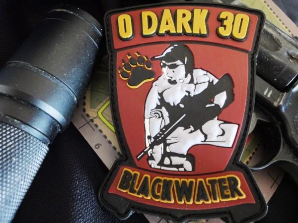 """3DRubber Patch:""""0 Dark 30"""" BLACKW."""