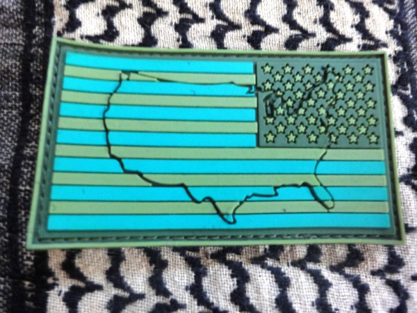 "3DRubber Patch:""USA"" right arm JUNGLE"