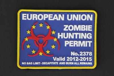 "EUROPEAN UNION ZOMBIE HUNTING PERMIT, ""EUROPŽISCHE UNION ZOMBIE JADGERLAUBNIS"")"