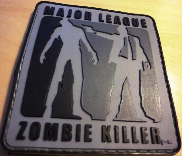 """3D Rubberpatch: """"Major League Zombiekiller"""" nightcamo"""