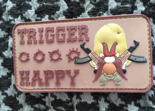 3D Rubber Morale Patch: TRIGGERHAPPY desert