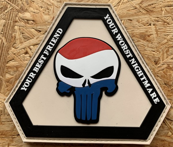 """3D Rubber Patch """"Punisher Netherlands"""""""