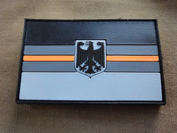 "3D Rubber MORALE PATCH: ""ORANGE LINE DEUTSCHLAND"""