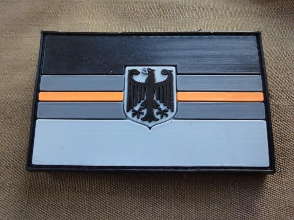 "3D Rubber MORALE PATCH: ""ORANGE LINE GERMANY"""