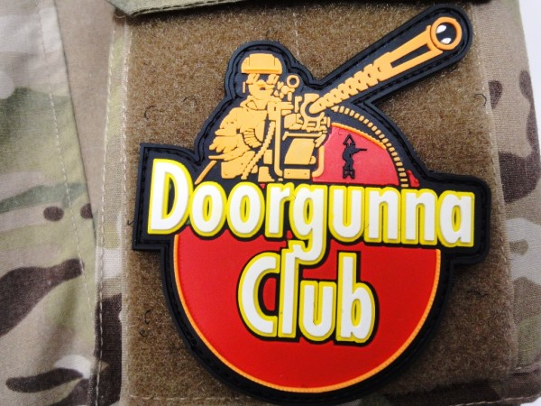 "3D Rubberpatch:""DOORGUNNA CLUB"" small"
