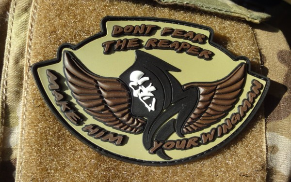 "3D Rubber MORALE PATCH: ""Don't fear the Reaper - desert"""