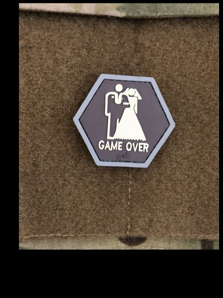 """HEXPATCH: """"GAME OVER"""" military colors"""