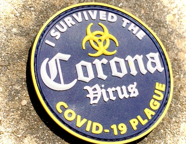 "3D Morale-Patch: ""I survived the Corona Virus"""