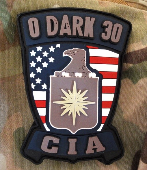 "3DRubber Patch:""0 Dark 30"" CIA"