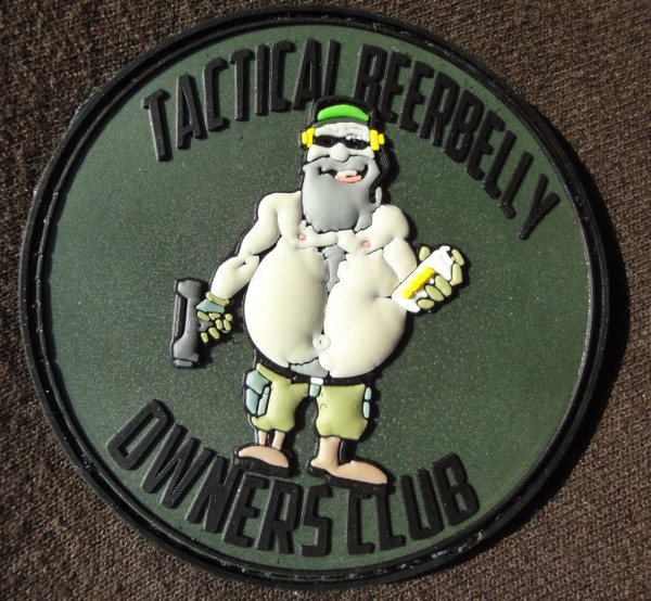 "3D Rubber MORALE PATCH: ""TBBOC"" tan"