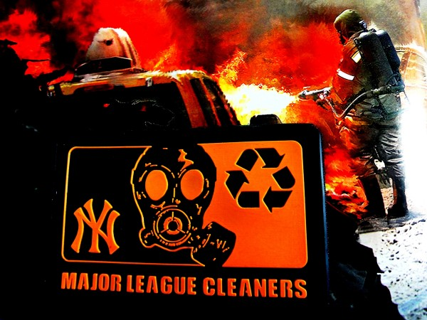 "3D Rubber MORALE PATCH: ""NY Major League Cleaners"""