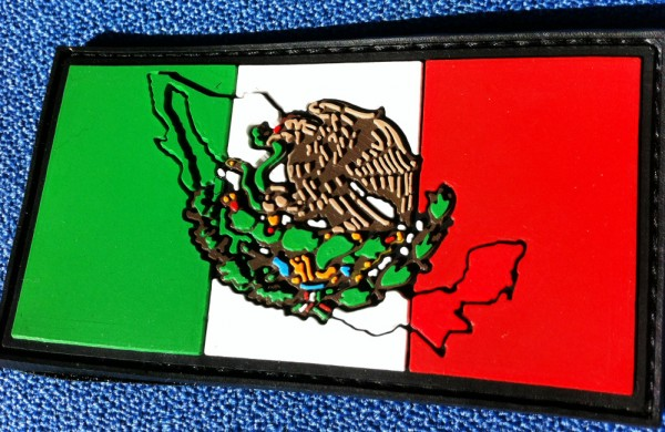 "3D Rubber Patch:""MEXICO"""