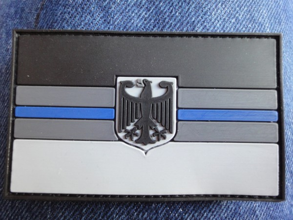 "3D Rubber MORALE PATCH: ""BLUE LINE DEUTSCHLAND"""