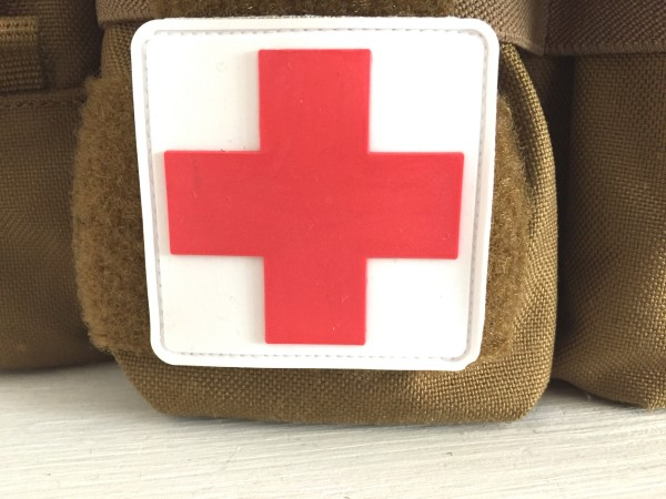 "3D Rubberpatch: ""RED CROSS"""