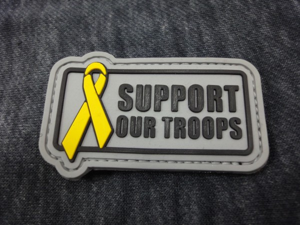 "3D Rubber MORALE PATCH: ""Support our Troops"""